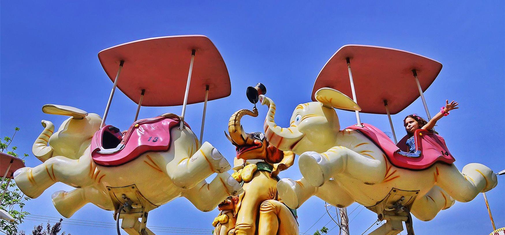 Фото карусели Веселый слон