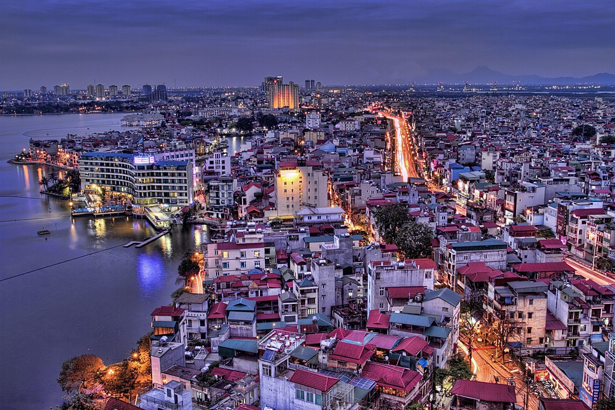 На фото изображен город Ханой