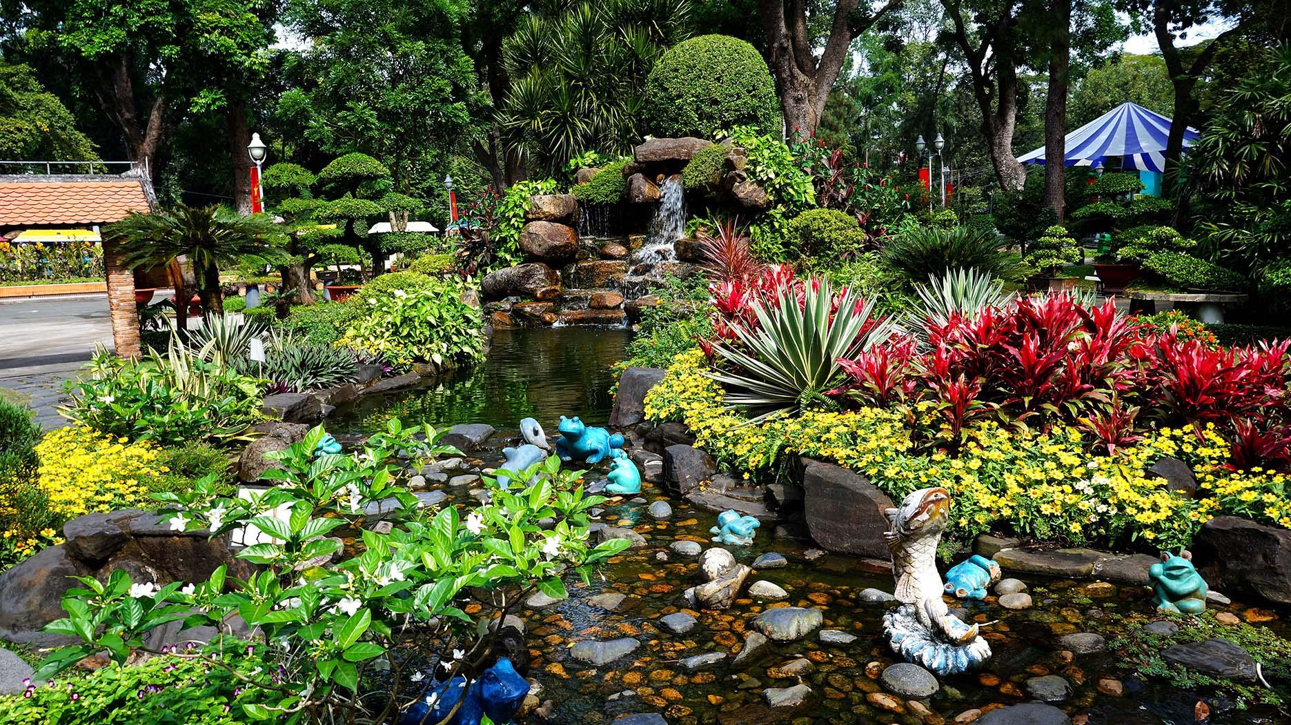 На фото Ботанический сад Вьетнама