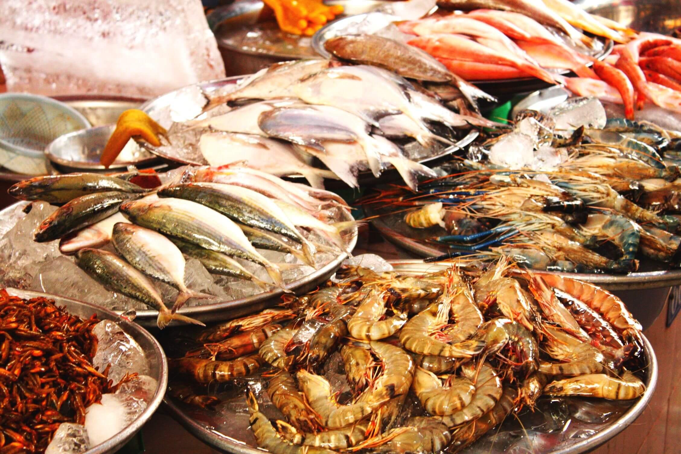 Расценки на дары моря