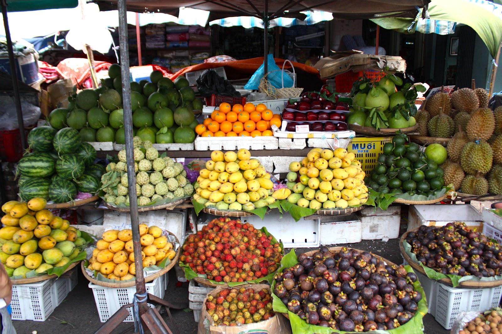 Вьетнамские фрукты в конце лета